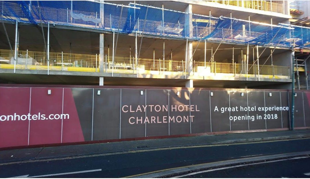 New opening at the Clayton Hotel Charlemont, under 4 star development, opening i…